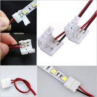 Wholesale 2 pin pcb connector adapter No Welding Wire Cable For SMD Single Color led Strip