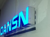 Wholesale 3D LED signs front illuminated letter name logo business signs blue color face illuminated or custom color