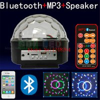 Wholesale Bluetooth MP3 music speaker LED RGB stage light magic ball with USB player remote controll color music home wine bar disco party