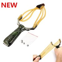 Wholesale 2014 Fashion Top Quality Powerful Steel Slingshot Catapult Outdoor Marble Games Hunting Sling Shot