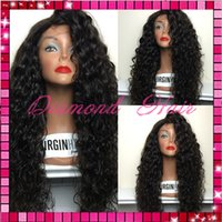 Wholesale Stock heavy density lace front human hair wig brazilian virgin hair kinky curly lace front wig with baby hair blenched knots