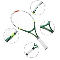 tennis bags - Aluminum Alloy Tennis Racket with Cover Bag Children Tennis Racquet for Training Exercise Green Yellow Blue Tennis Rackets
