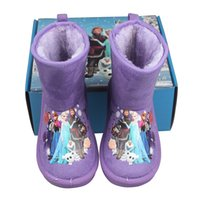 child boots - Fashion Frozen Children Girls Winter Snow Boots Purple Hot Pink Frozen Boot Shoes For Baby Girls Warm Boots Christmas Shoes