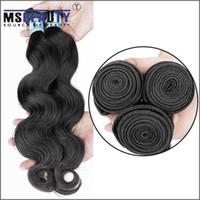 Wholesale Msbeauty hair Human Hair Weave Natural Virgin Hair brazilian Body Wave A grade quot quot Msbeauty Hair Factory