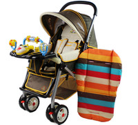 Wholesale 2015 New brand Baby thickness colorful stroller cushion child cart seat cushion cotton rainbow general cotton thick mat