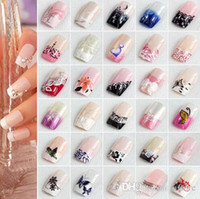 Wholesale New Arrivals In A Box As A Sets Full Nail French Tips Natural Finger False Fake Art Cover Manicure tx243