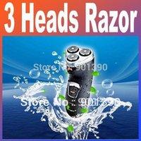 Electricidad 3 Jefes impermeables recargables de los hombres lavable Shaver Razor Triple Cuchilla RSCX-5085 gris, negro libre del envío