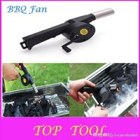Wholesale Hot Sale BBQ Fan Manual Blower Cranked Outdoor Picnic Camping Fan Air Blower For Barbecue Fire Bellows w Hand Crank DX711 A2