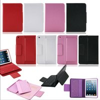Wholesale New Wireless Bluetooth Keyboard And PU Leather Case for IPad mini1 mini