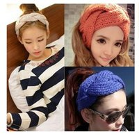 aa hair accessories - Christmas Headbands for Women Acrylic Turban Twist Warm Accessory Head Wrap Girls Cross Headband Twisted Knotted Hair Band Hairband AA