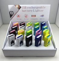 novelty lighters - Hot Novelty USB Electronic Rechargeable Battery Flameless Cigar Cigarette Electronic Lighter No Gas smokeless Wind Proof lighters