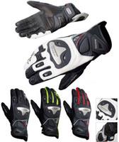 achat en gros de cuir xxl gants de course de moto-2016 gants KOMINE style court gants de moto en cuir Moto gants de course alliage de titane chevalier à cheval chute respirant GK170 ont 4 couleurs
