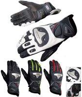 al por mayor xxl leather motorcycle racing gloves-2016 guantes Komine corta Estilo guantes de cuero de la motocicleta de Moto guantes de carreras de titanio caballero aleación montando gota transpirable GK170 tienen 4 colores
