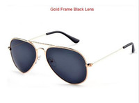 Wholesale Retail Oculos Vintage Shade Men s Women s sun glasses Metal Frame Classic Retro Man Woman Fashion Polarized Sunglasses Pilot model