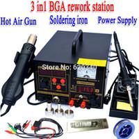 Wholesale 220V in Hot Air Rework Solder Station Hot air gun soldering station Soldering iron Power Supply digital soldering station order lt no