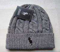 Wholesale color polo knit wool men women cap hat