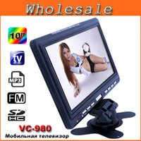 color tv - Mini Television Portable inch TFT LCD Color TV With Wide View Angle FM Radio Support USB SD Card Car Monitor For