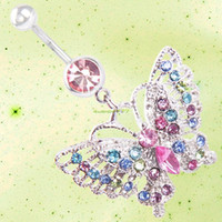 Other belly button stud - ES2337 Lovely Hollow Butterfly Belly Button Ring Navel Stud Body Piercing Jewelry