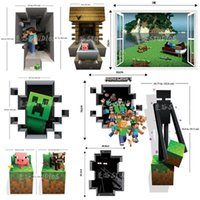 Wholesale HOT Minecraft Wall Decal Cling Minecraft Creeper Sticker Wall sticker minecraft sticker wall poster FREE SAME DAY SHIPPING