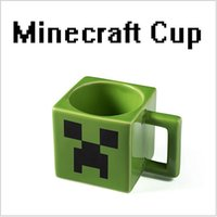glass water bottles - 2015 AAA quality Minecraft Creeper face cup kid boy girl gargle p cup bottle glass cup rinsing mug water cup water drink cup TOP1678