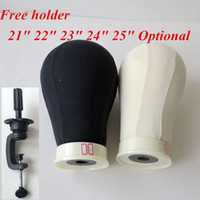 Wholesale Canvas Head for Wig Making Poly Mannequin Canvas Foam Block Head quot quot quot quot quot hair extensions tools