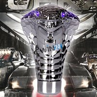 automatic transmission gear shifting - Universal Cobra Gear Stick Shift Knob Car Styling Mode Blue LED LightEyes for Manual Automatic Transmission Cars