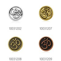 Wholesale Eco Friendly metal button charm for garment high end metal om buckles for jewelry making