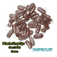 Metal snap on teeth - 100pcs U Shape Wig Clips mm Snap On Teeth Metal Snap Clip For Hair Extension