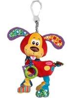 Wholesale 1Pcs Playgro Bed Cathe Hanging Toy Dog Plush Toy Rattle Teether Baby Newborn Gift Multifunction Educational