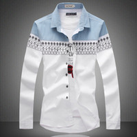 Wholesale Big Size New Mens Shirt Slim Fit Fashion Long Sleeve Casual Shirts Men Dress Shirts High Quality Camisas Colors