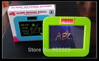Wholesale Recording Alarm Message Board LED Digital Clock With Fluorescent Pen New Electronic Toy For Kids