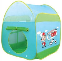 Wholesale Outdoor Indoor Baby House Children s Toy Tent Sports Play Games House Polyester Pink Blue Tent For Kids cm Waterproof