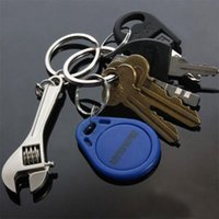 Wholesale Hot Keychain Metal Adjustable Tool Wrench Spanner Keyring Creative
