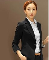 Cheap Small business suit qiu dong han edition of the new 2014 women cultivate one's morality short black women cultivate one's morality is natura