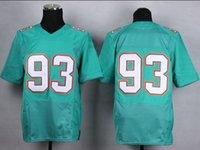 Wholesale American Football Jerseys Ndamukong Suh Green AquaTeam Elite Jersey New Transfer Cheap Dolphins Stitched Jersey
