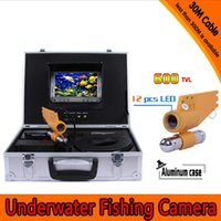 underwater fishing camera - Underwater fishing video camera underwater camera for Fishing Fish Finder with portable aluminum case and m cable inch color monitor