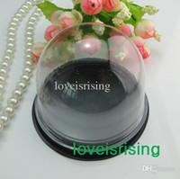 Hot Sale - 100pcs = 50sets plastique transparent Cupcake Gâteau Dome Favor Boxes conteneurs Wedding Party Decor Coffrets Cadeaux Wedding Favors Boîtes Fournitures