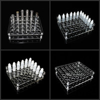 acrylic show cases - Acrylic e cig display clear stand show shelf holder rack case for ml ml ml ml e liquid e juice bottle needle bottle
