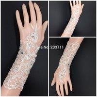 Wholesale Fashion Ivory Lace Bride Wedding Gloves Bridal Fingerless Gloves Luva De Noiva Sem Dedo Para Noiva Wedding Accessories
