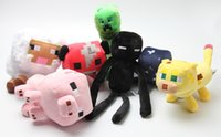 Wholesale 7PCS Set Minecraft Toys High Quality Minecraft Creeper Plush Toys For Children Gifts BD0003