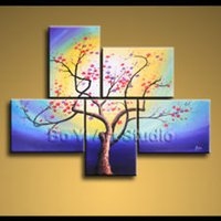 contemporary oil paintings - Contemporary Modern Oil Painting Impression Original Blossom Landscape mn0