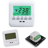 Wholesale Hot sale New Digital Thermostat Room Temperature Controller Weekly Programmable Green LCD Display Warm Floor Heating