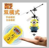 best radio controlled helicopter - New Flying Despicable Me Minion Flying toys RC Helicopter Radio Control Helicopter Double Control Model best gift for children