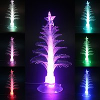 Cheap Mini USB Changing Mutil Color Decoration For Christmas Tree LED Light X'mas Tree Lamp Xmas Merry