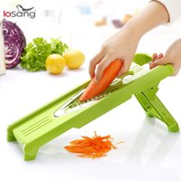 Wholesale LEKOCH V Slicer Mandoline Slicer with Interchangeable Stainless Steel Blades Vegetable Cutter Peeler Slicer Grater Kitchen Tool LS