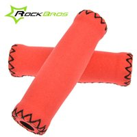 Wholesale New RockBros MTB Mountain Bike Grips Cycling Bicycle Soft Handlebar Grips Plug included Bike Accessories Colors