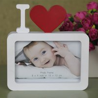 achat en gros de amour forme cadre photo-Sweet Love Frame de photo Red Heart Shape With One Picture 6x4