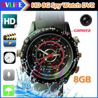 Cheap 2016 Waterproof 8GB Spy Watch DVR DV Vid Best Video Recorder Pinhole Hidden Mini Camer