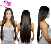 Larga recta peruana cordón lleno Humanos pelucas de pelo Negro Para Mujeres 100% bruto Glueless llena del cordón Virgen peluca de pelo peruano