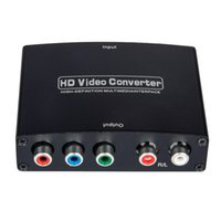 Wholesale HDMI HDTV to Component Video YPbPr P HD Audio Converter Adapter with Analogue Audio